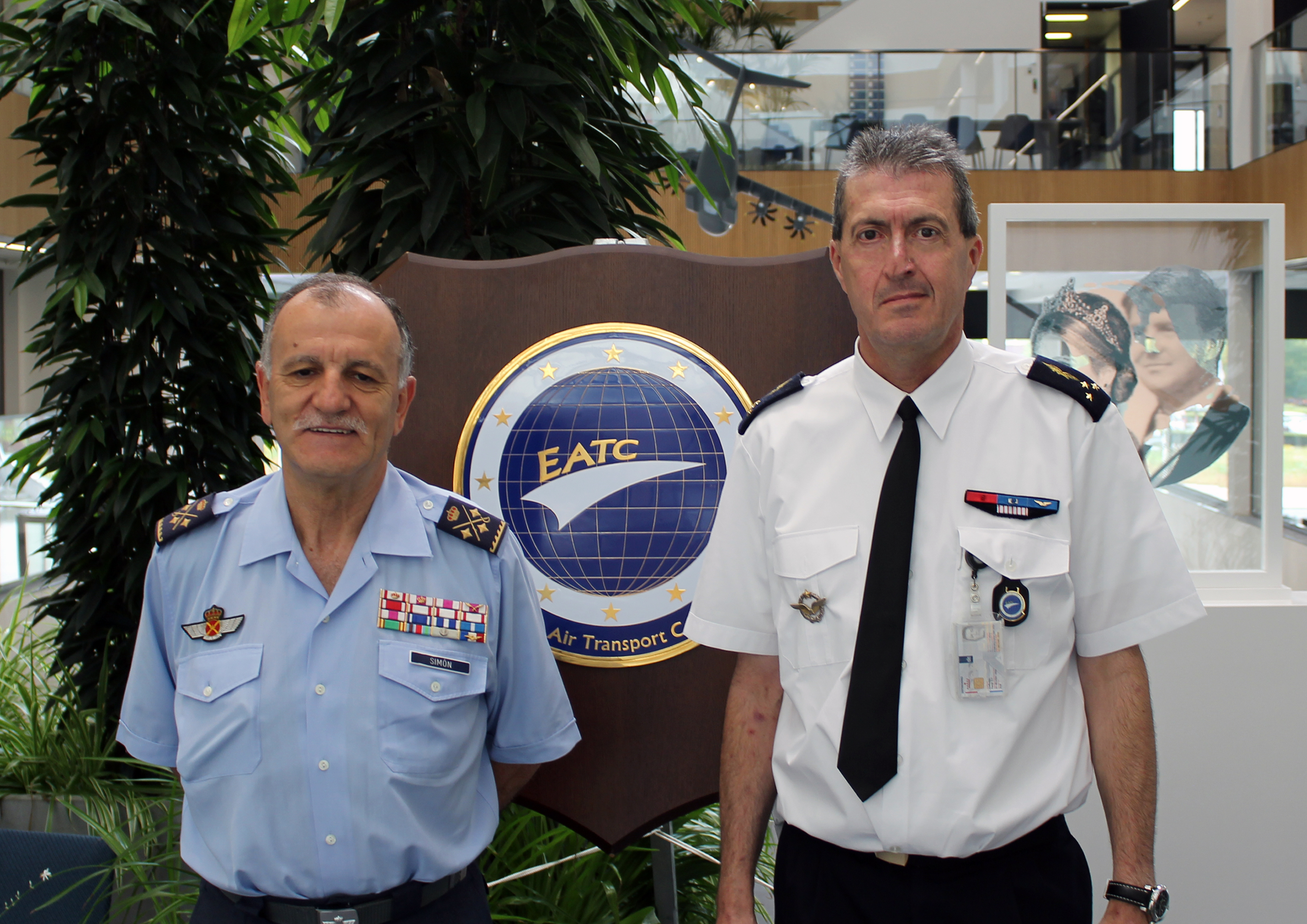 The Spanish Air Combat Commander visits EATC