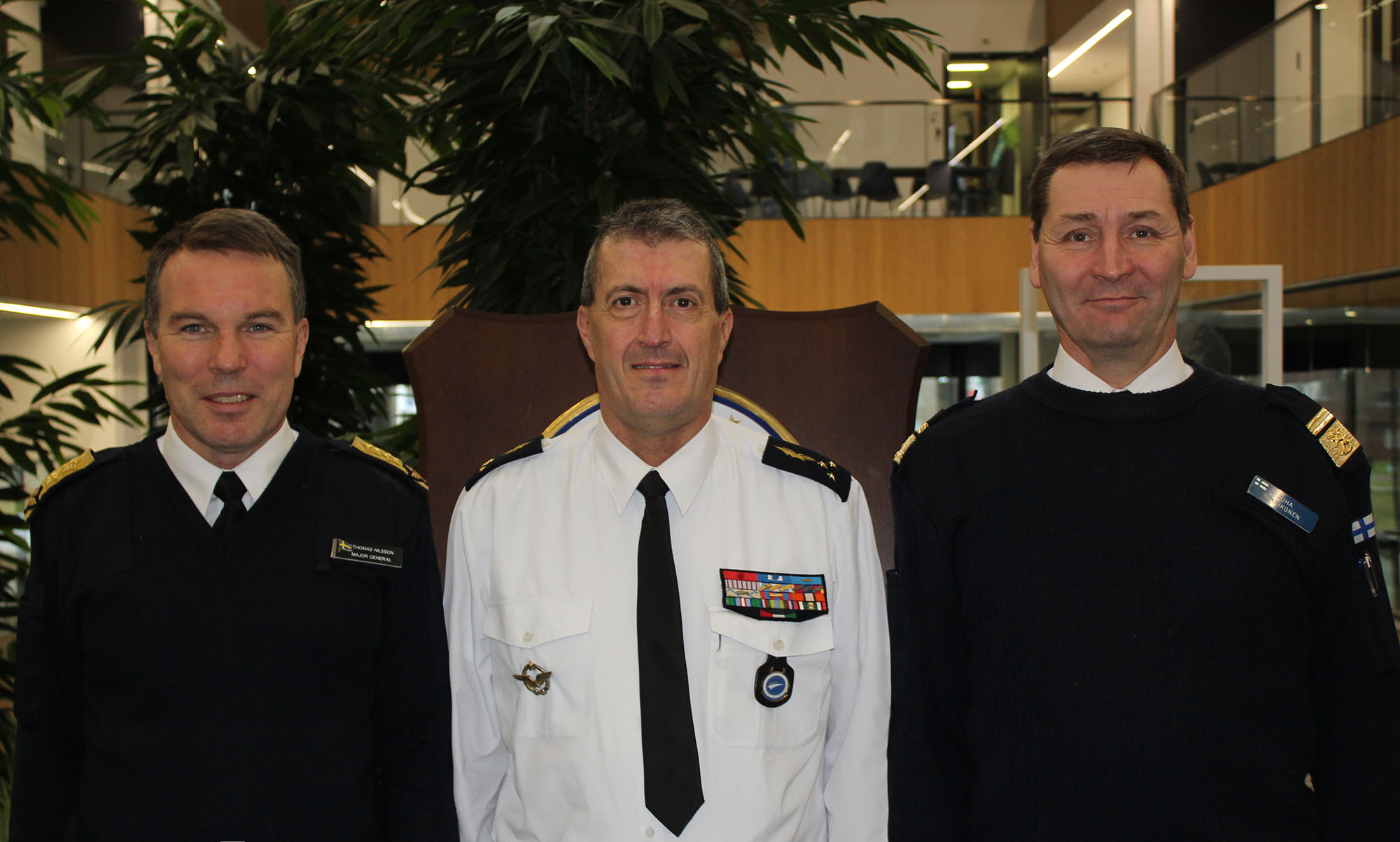 The Finnish and Swedish Military Representatives to the European Union and NATO visit EATC