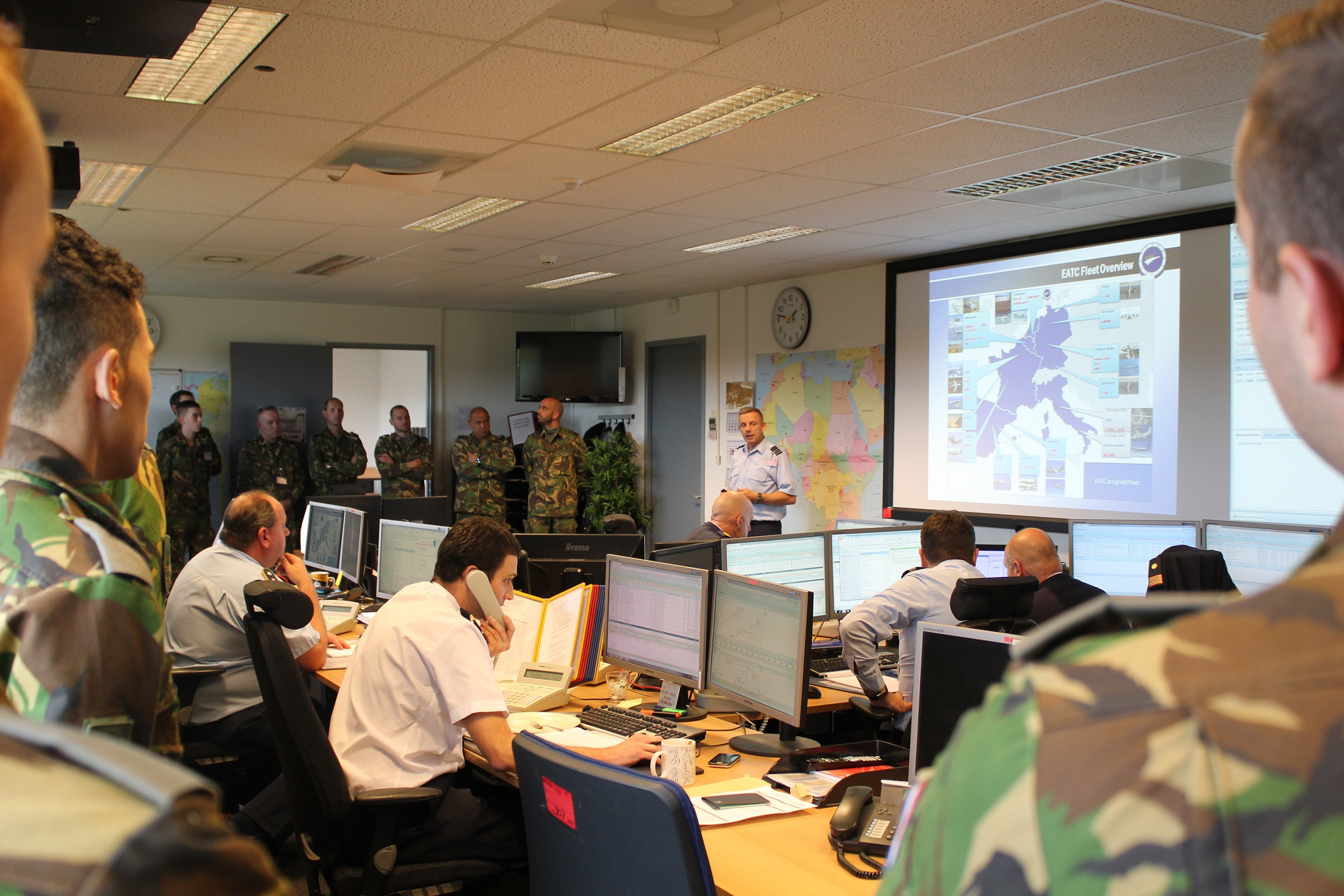 EATC INTRODUCES ITSELF TO THE DUTCH AIR CADETS FROM THE MILITARY ACADEMY