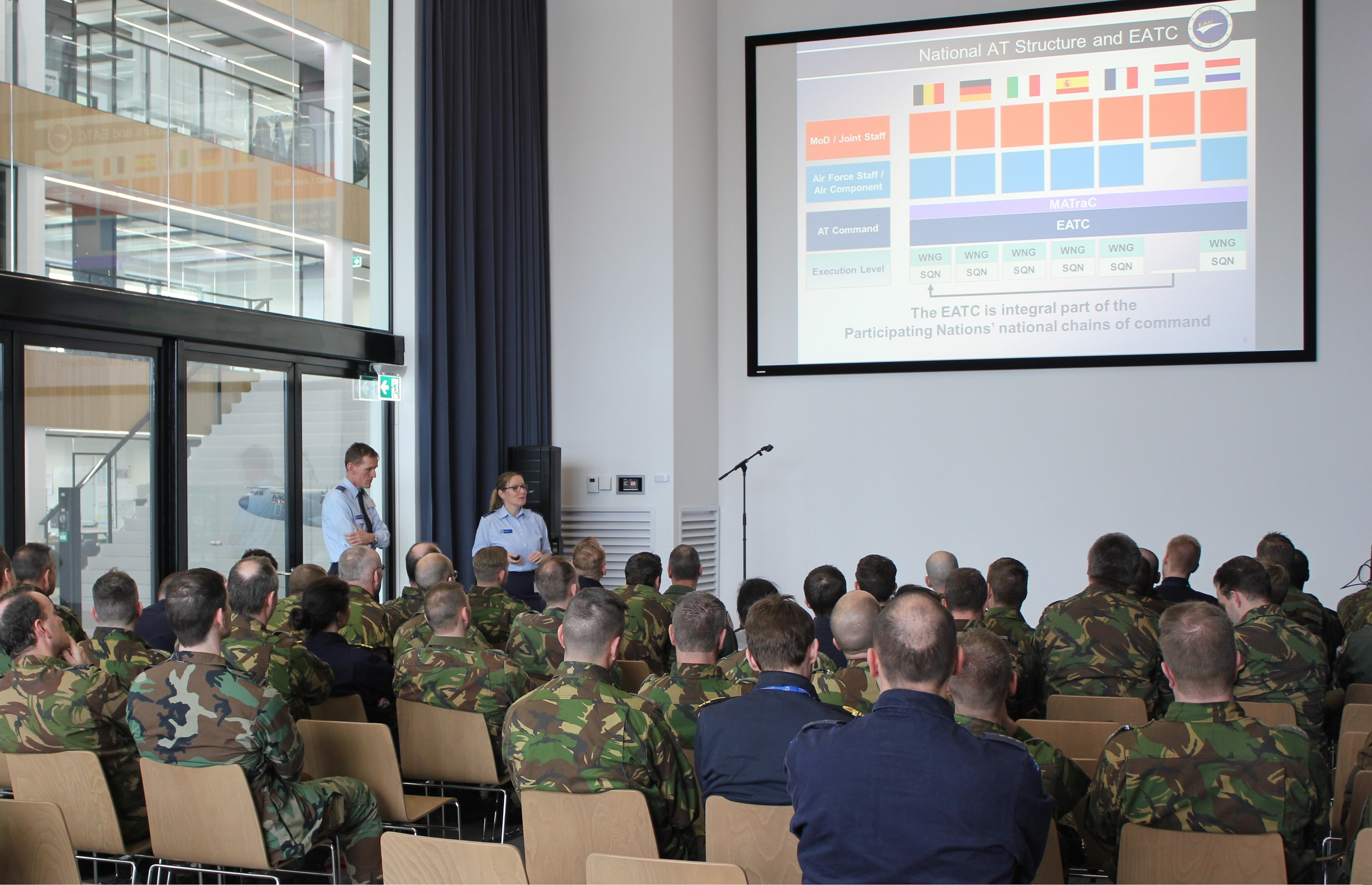 EATC introduced itself to Dutch Middelbare Defensie Vorming (MDV)