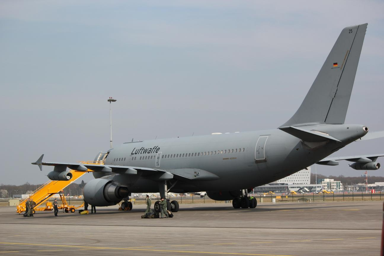 German Airbus A310 MRTT right after landing