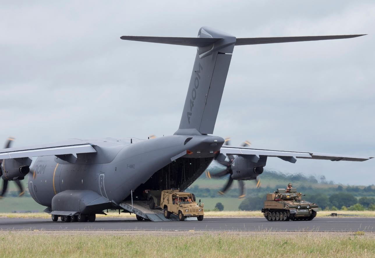A400M demonstrates airfield assault capability