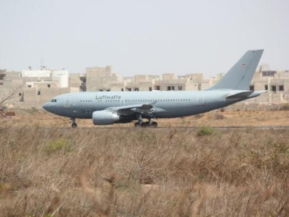 MRTT after landing in Dakar
