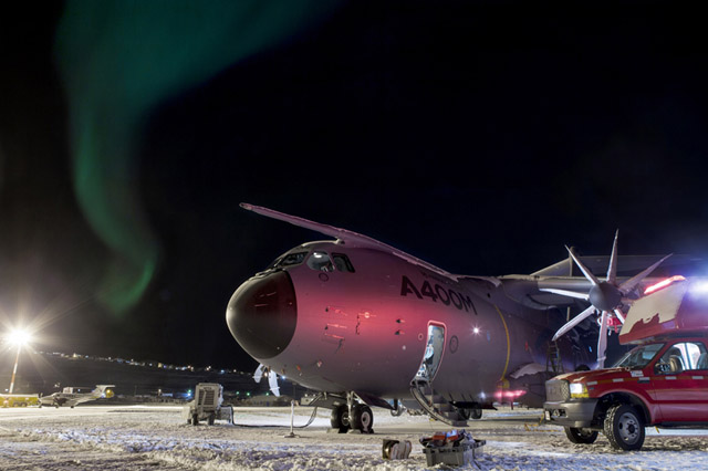 A400M undergoes latest cold weather tests