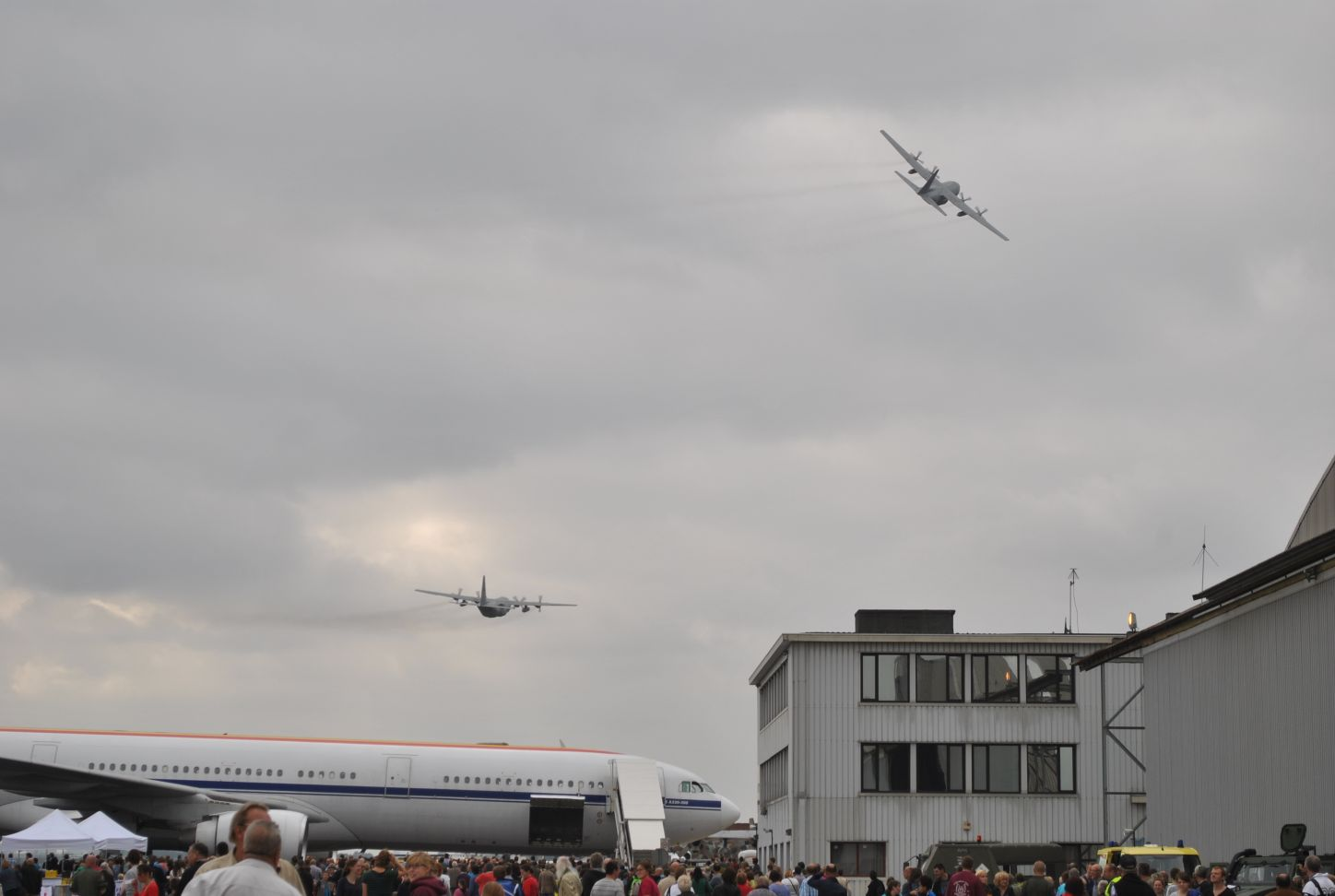 action at Melsbroek Air Base