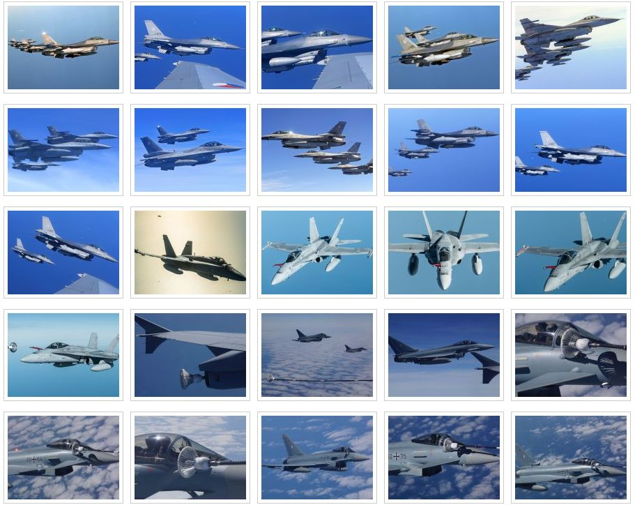 Different fighter aircraft