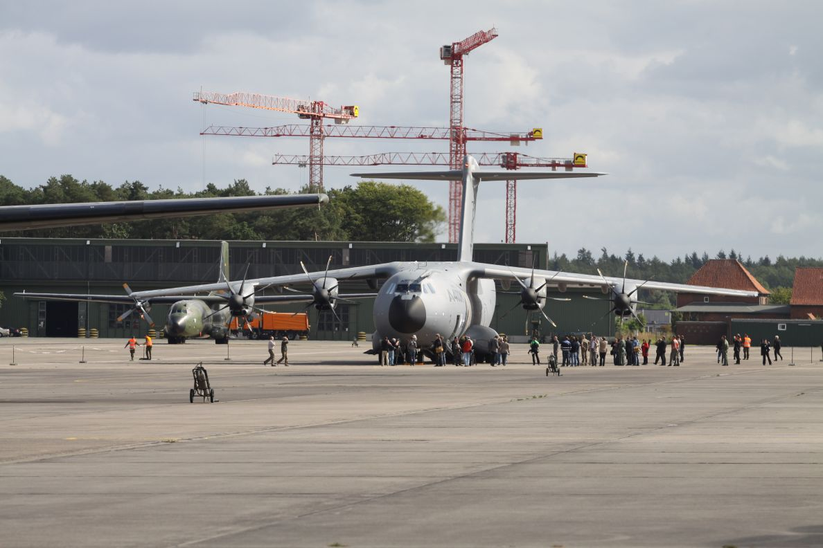 First A400M landing in Wunstorf