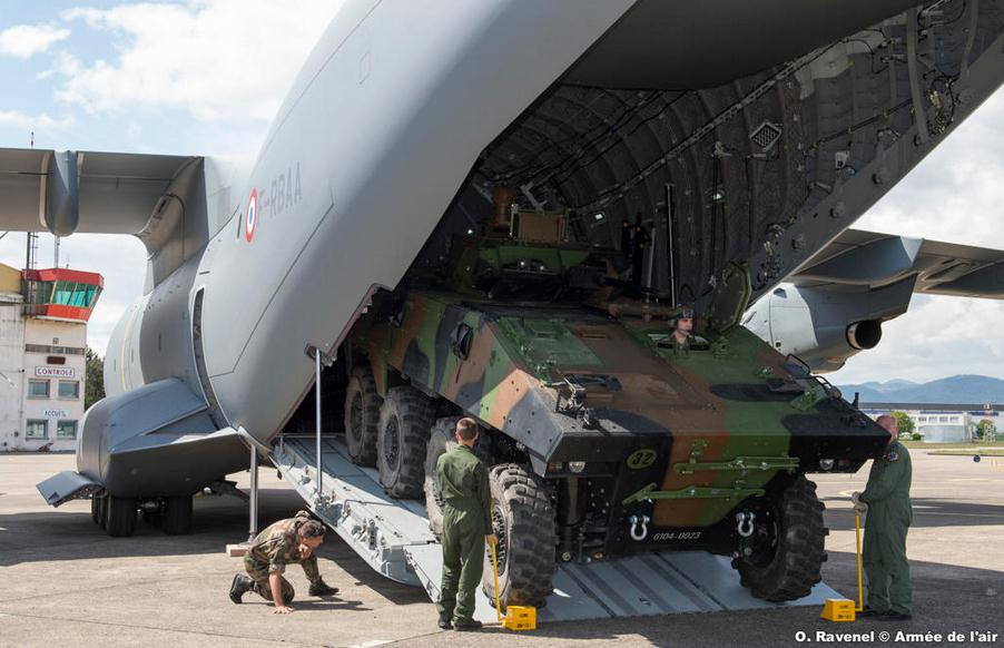 Another tick in the box: First VBCI loaded in the cargo compartment of the A400M Atlas