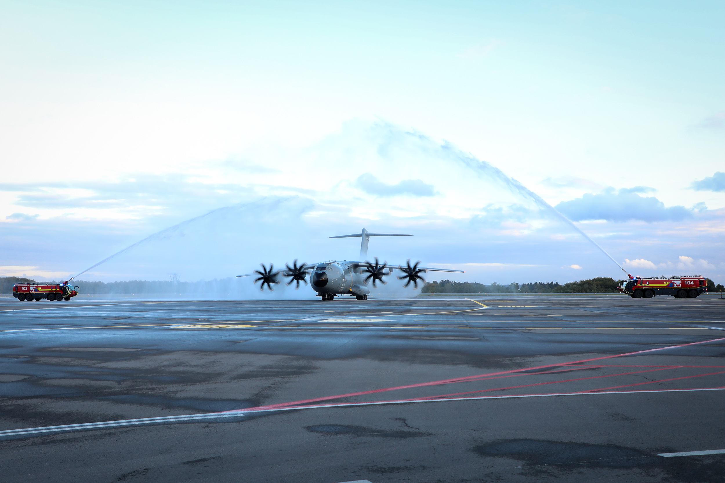 EATC takes off with the first Luxembourg-Belgium A400M