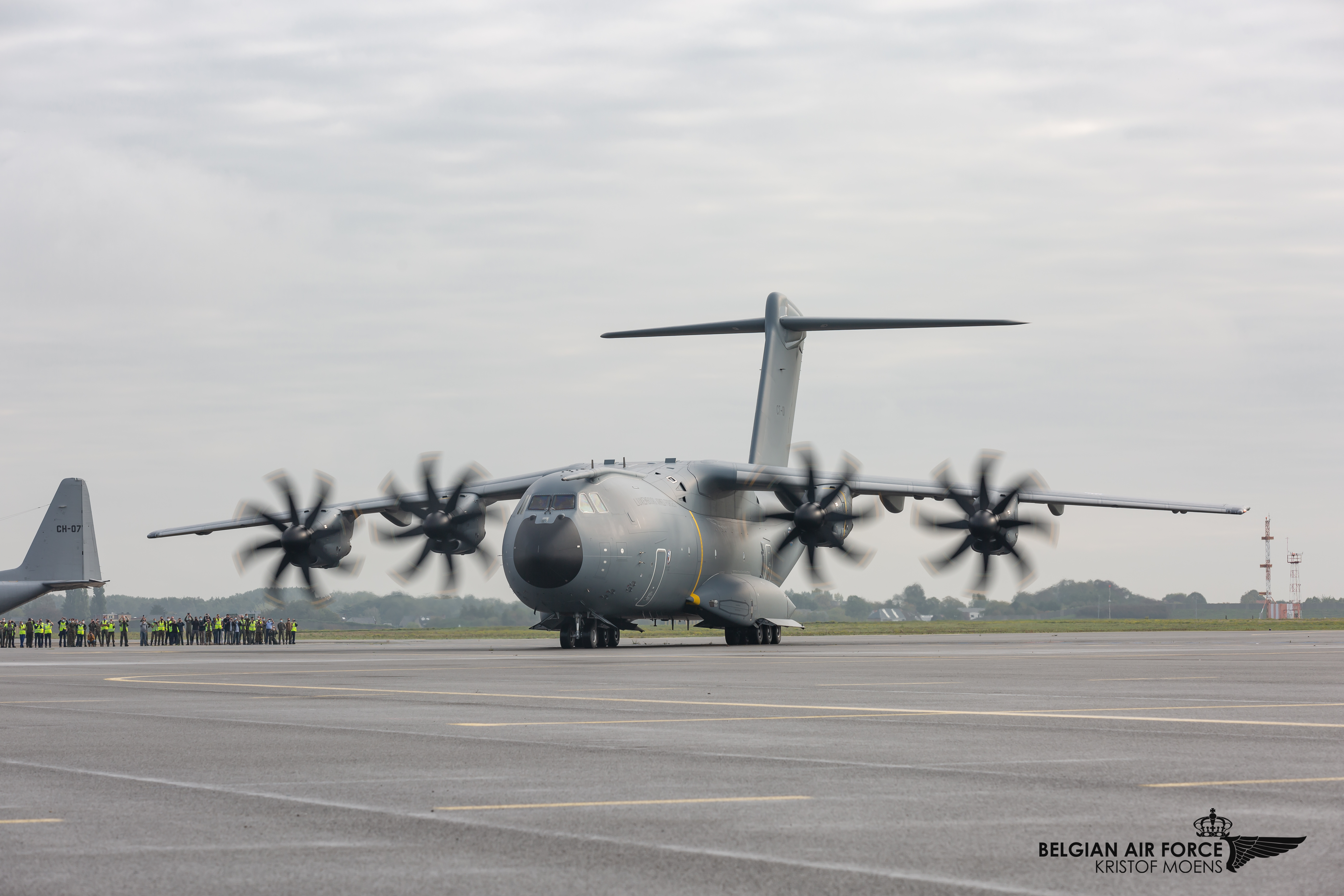 Impression from A400M arrival in Melsbroek
