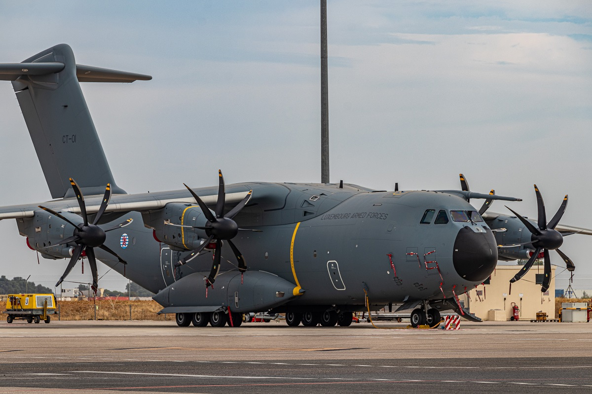 Watch a video on the Luxembourg A400M aircraft